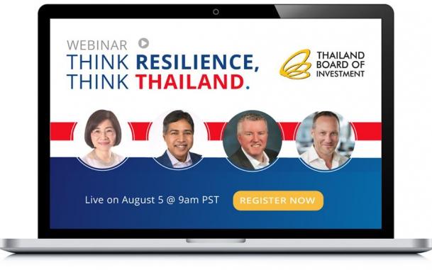 """สำนักงานบีโอไอ นครลอสแอนเจลิส ประเทศสหรัฐอเมริกา  จัดงานเสวนาออนไลน์ในหัวข้อ """"Think Resilience, Think Thailand"""""""