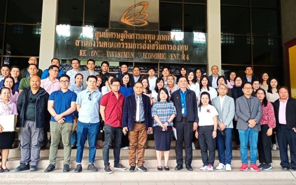 ภาพกิจกรรมต้อนรับคณะนักลงทุนไทยภายใต้โครงการจ้างที่ปรึกษาศูนย์พัฒนา การลงทุนไทยในต่างประเทศ